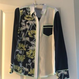 Tory Burch Brigitte silk shirt size 8 NWOT